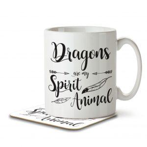 Dragons are my Spirit Animal – Mug and Coaster
