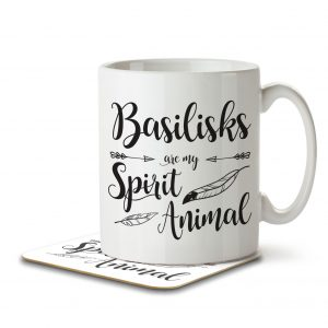Basilisks are my Spirit Animal – Mug and Coaster