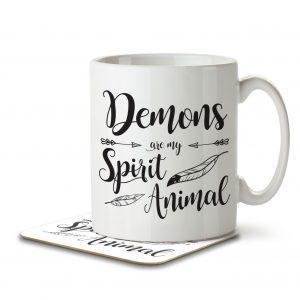 Demons are my Spirit Animal – Mug and Coaster