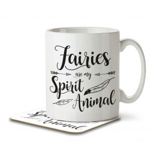 Fairies are my Spirit Animal – Mug and Coaster