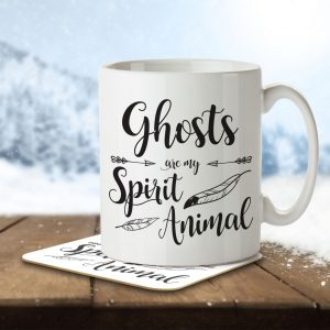 Ghosts are my Spirit Animal – Mug and Coaster