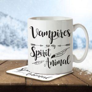 Vampires are my Spirit Animal – Mug and Coaster