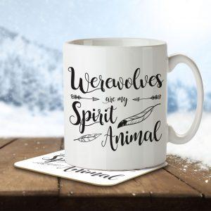 Werewolves are my Spirit Animal – Mug and Coaster