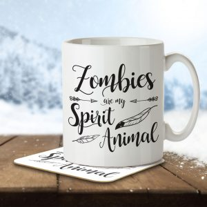 Zombies are my Spirit Animal – Mug and Coaster