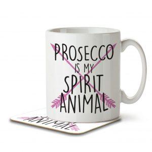 Prosecco is my Spirit Animal – Mug and Coaster