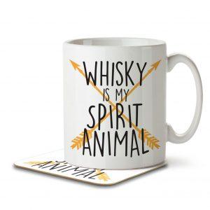 Whisky is my Spirit Animal – Mug and Coaster
