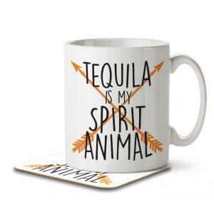 Tequila is my Spirit Animal – Mug and Coaster