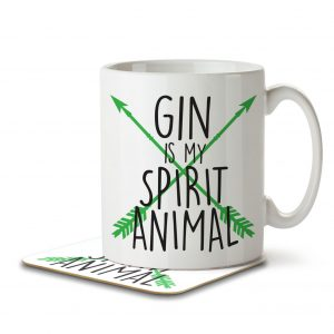 Gin is my Spirit Animal – Mug and Coaster