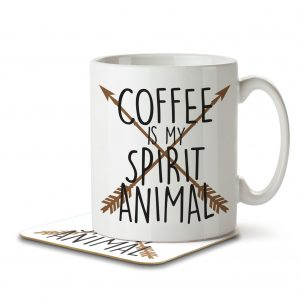 Coffee is my Spirit Animal – Mug and Coaster