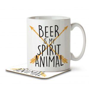 Beer is my Spirit Animal – Mug and Coaster