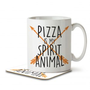 Pizza is my Spirit Animal – Mug and Coaster