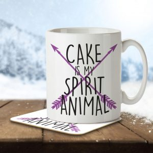 Cake is my Spirit Animal – Mug and Coaster