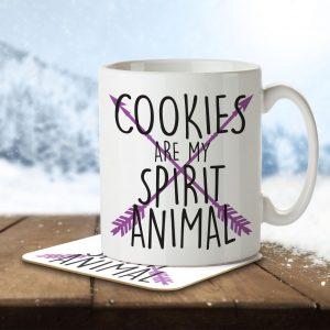 Cookies are my Spirit Animal – Mug and Coaster