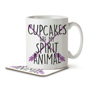 Cupcakes are my Spirit Animal – Mug and Coaster
