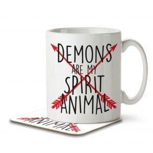 Demons are my Spirit Animal – Arrow Design – Mug and Coaster