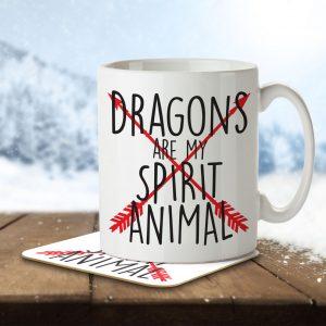Dragons are my Spirit Animal – Arrow Design – Mug and Coaster