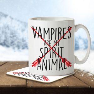 Vampires are my Spirit Animal – Arrow Design – Mug and Coaster