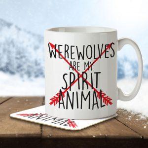 Werewolves are my Spirit Animal – Arrow Design – Mug and Coaster