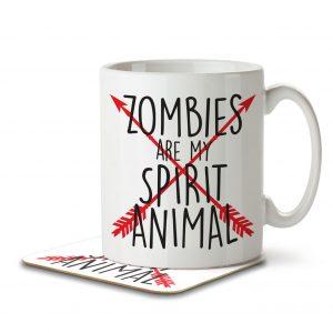 Zombies are my Spirit Animal – Arrow Design – Mug and Coaster