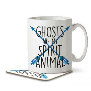 Ghosts are my Spirit Animal – Arrow Design – Mug and Coaster
