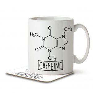 Caffeine Chemistry Formula Design – Mug and Coaster