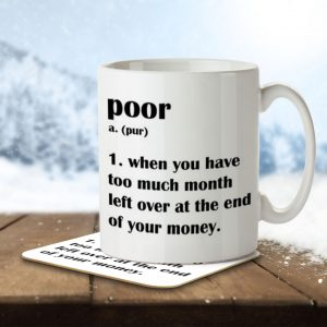 Poor Definition Funny – Mug and Coaster