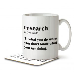 Research Funny Definition – Mug and Coaster