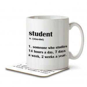 Student Funny Defintion – Mug and Coaster