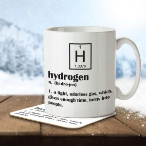 Hydrogen Funny Definition – Mug and Coaster