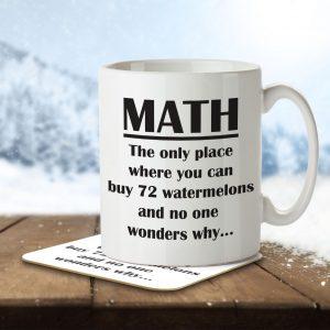 Maths Joke Funny – Mug and Coaster