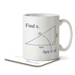 Find x. Here It Is! – Mug and Coaster