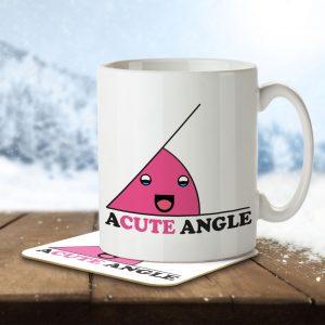 A Cute Angle – Mug and Coaster