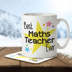 Best Maths Teacher Ever – Mug and Coaster