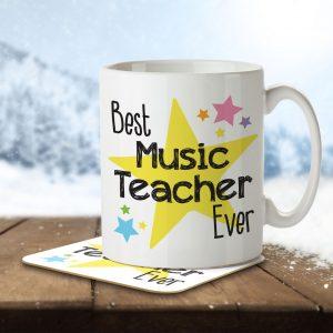Best Music Teacher Ever – Mug and Coaster