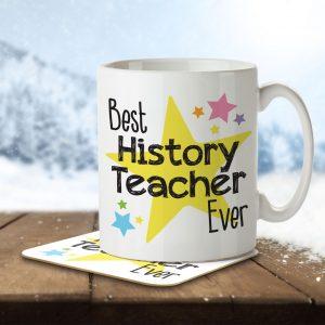 Best History Teacher Ever – Mug and Coaster