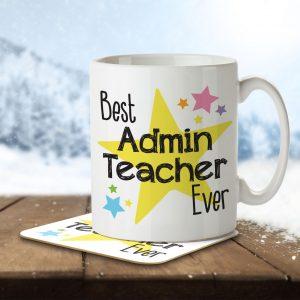 Best Admin Teacher Ever – Mug and Coaster