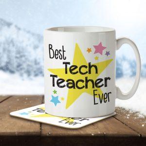Best Tech Teacher Ever – Mug and Coaster