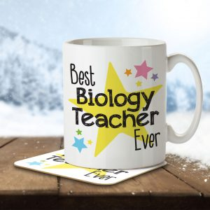 Best Biology Teacher Ever – Mug and Coaster