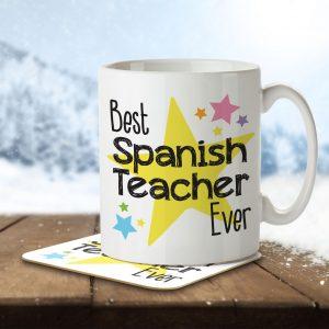 Best Spanish Teacher Ever – Mug and Coaster