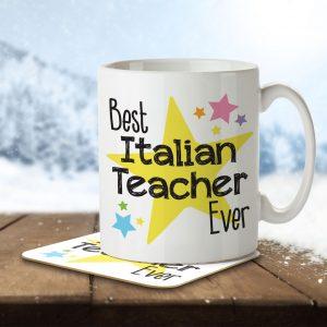 Best Italian Teacher Ever – Mug and Coaster