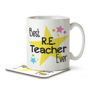 Best R.E. Teacher Ever – Mug and Coaster