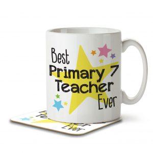 Best Primary 7 Teacher Ever – Mug and Coaster