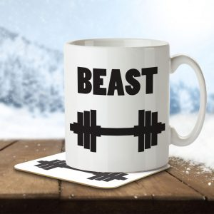 Beast (Part of a His & Hers set) – Mug and Coaster