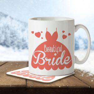 Beautiful Bride (Wedding Dress) – Mug and Coaster
