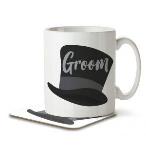 Groom (Top Hat) – Mug and Coaster