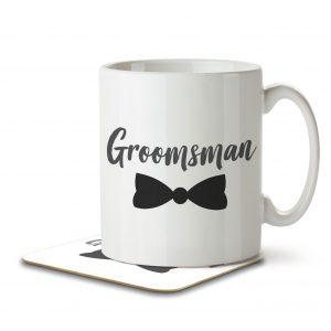 Groomsman (Bow Tie) – Mug and Coaster