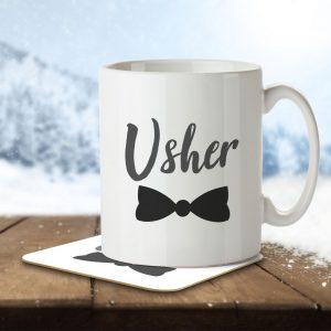 Usher (Bow Tie) – Mug and Coaster