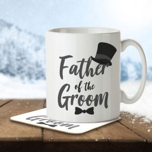 Father of the Groom (Top Hat and Bow Tie) – Mug and Coaster