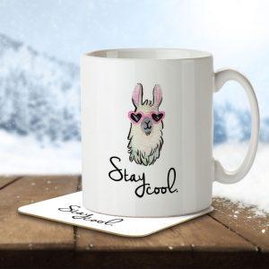 Stay Cool – Llama – Mug and Coaster