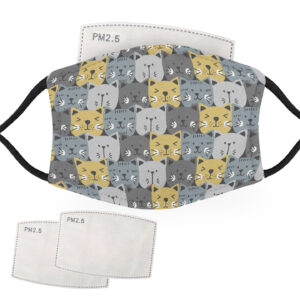 Cat Animal Pattern – Adult Face Masks – 2 Filters Included